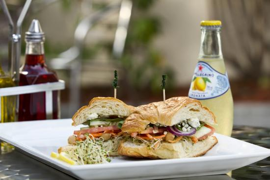 The Deli: Veggie sandwich on a croissant !