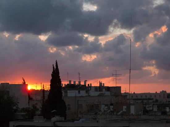 Lev Yerushalayim: Sunset from Lev
