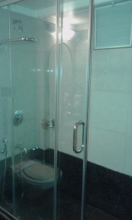 Bathroom Partitions Pune glass partition bathroom - picture of hotel krishna presidency