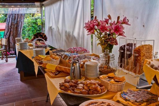 Raffaelli Park Hotel: colazioni buffet in giardino