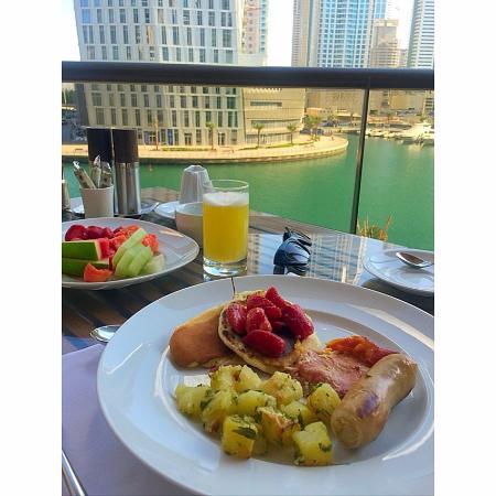 Buffet breakfast view from terrace picture of sloane 39 s for Breakfast terrace
