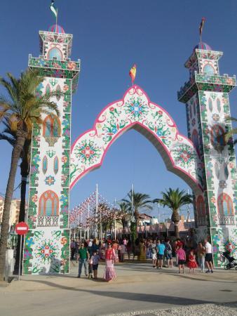 Feria de la Manzanilla: Entrance to feria 2015