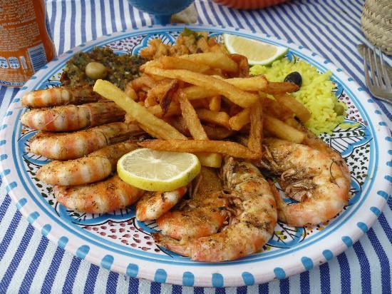 Djerba-Sidi Ali Restaurant: gambas