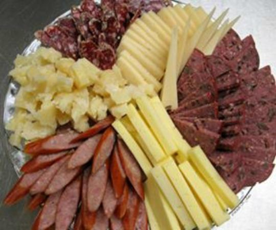 River Falls, WI: Local meat and cheese trays (upon advanced request)