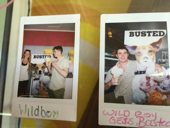 Maddens Ice Cream Parlour and Pizzeria: Wild Boy and Wild Girl come in and get BUSTED