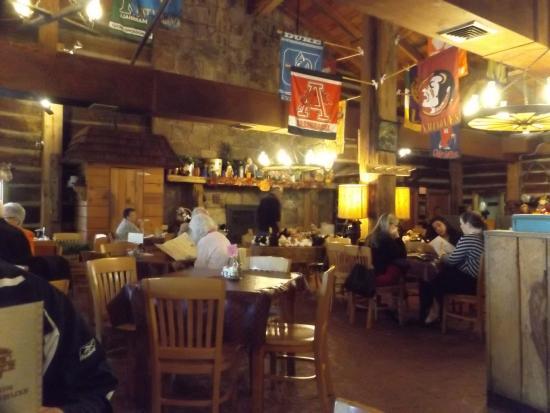 Inside Log Cabin Pancake House