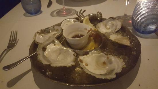 Try the St Mawes oysters.  First time we had them - extremely nice