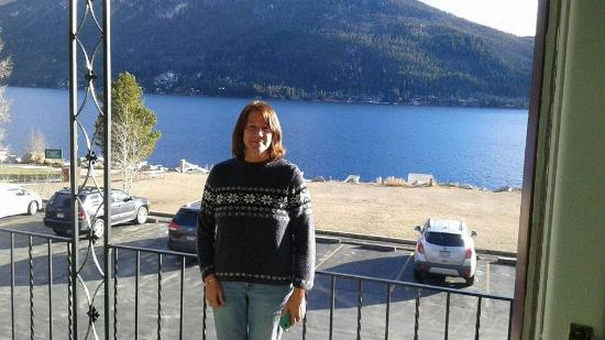Western Riviera Lakeside Lodging Events Me Standing In Front Of Our Hotel Room Over