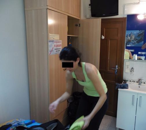 Pension Jaen: Habitación con ducha