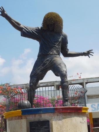نتيجة بحث الصور عن carlos valderrama statue