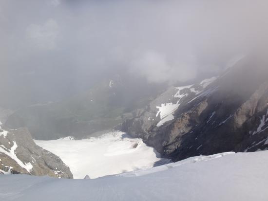 Aletsch Glacier: Vista do glaial a partir de Jungfrau