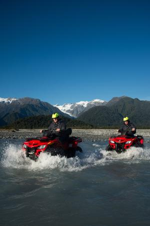 Across Country Quad Bikes: What a spectacular view of the Glacier and Southern Alps