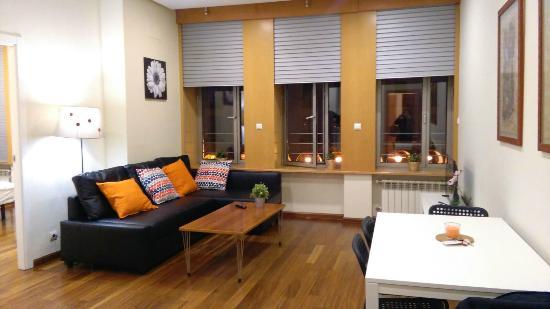 Apartamentos Avila : Salón con vistas
