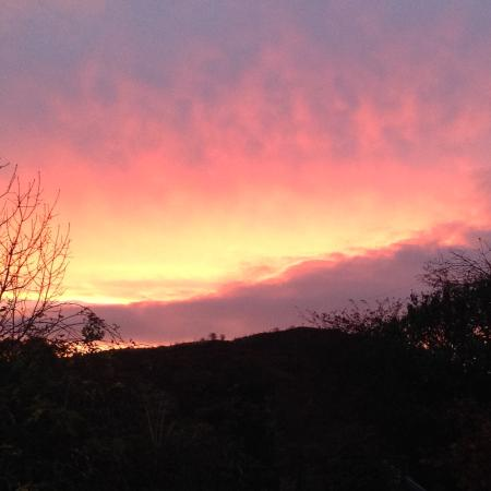 Pont-Rhyd-y-Groes, UK: Sunrise on our last morning