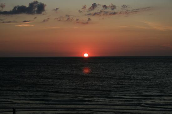 Fifty Gulfside Condominiums : Sunset view from balcony of the gulf side