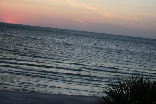 Fifty Gulfside Condominiums : Sunset view from balcony night 2