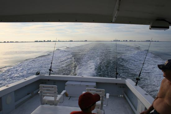 Fifty Gulfside Condominiums: leaving Tampa bay on fishing charter