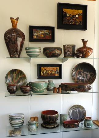 Floyd, VA: Woodworking by Ed Barnes and pottery by Julie Covington