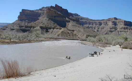 Green River, UT: Swaseys Beach Looking at Gunnison Butte