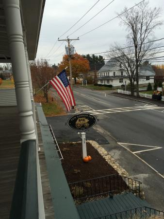 New London, NH: Down the road - view from 2nd floor