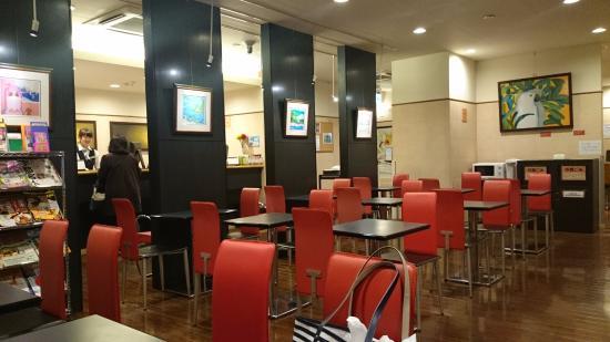 Hotel Sealuck Pal Utsunomiya: 朝食会場では土日祝日限定で無料のコーヒーサービス