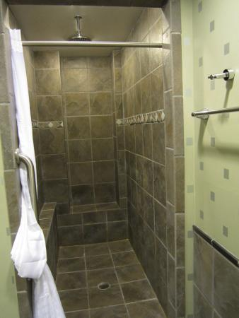 Comfort Suites: walk in shower