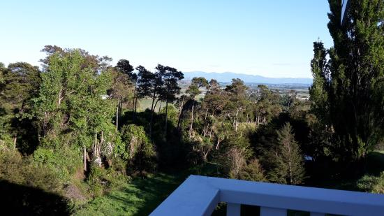 The Pear Orchard Lodge: Morning view from balcony