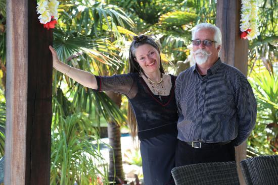 Tiki Tiki Ora: Our hosts. Mark and Angelique.