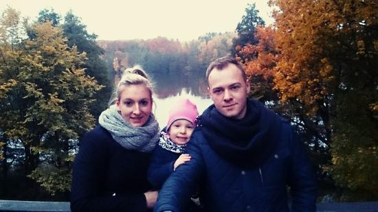 Stare Jablonki, Polonia: Widok na piękne jeziora z tarasu widokowego przy restauracji