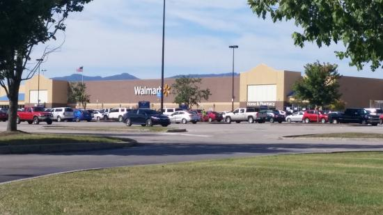 Wal-Mart from the back door of Comfort Inn