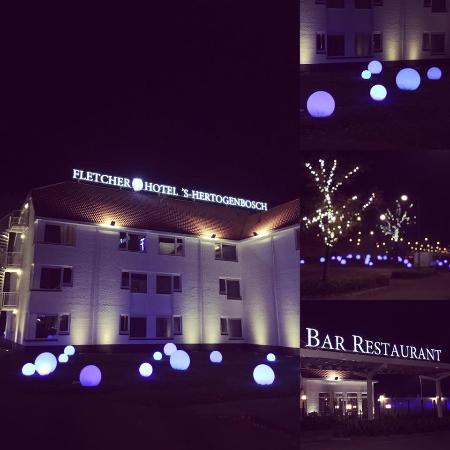 Blue Lights In Yard Picture Of Fletcher Hotel Restaurant S
