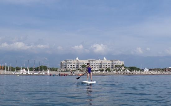 Andriake Beach Club Hotel: Hotel view from SUP