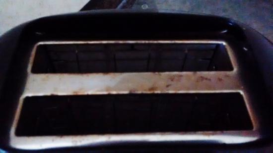 Barmouth Bay Holiday Park: rusty toaster