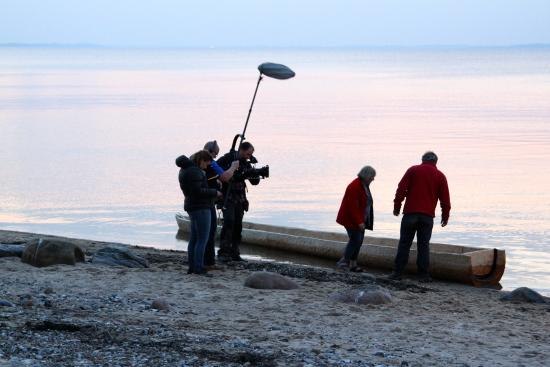 Farsö, Dänemark: BBC-optagelse oktober 2014.