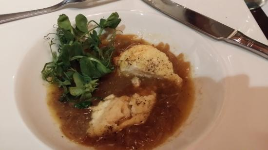 Brook, UK: Melt in your mouth Double baked cheese souffle