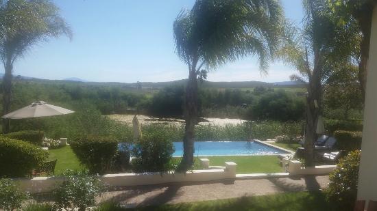 Robertson, Sudáfrica: Ausblick aus Zimmer 4 im Rosendal