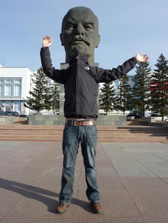 Ulan Ude Travelers House: Funny Lenin's head is our trend
