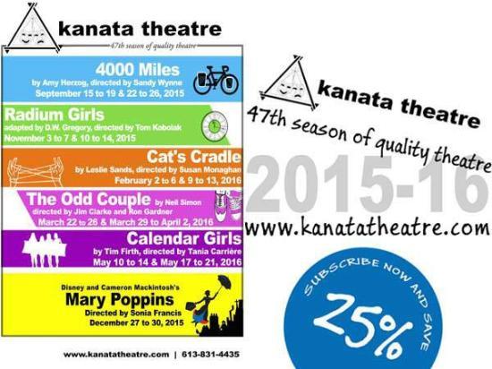 Ottawa, Canada: Kanata Theatre's 2015/2016 Season