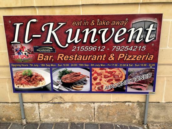Il-Kunvent Restaurant: Speisenangebot