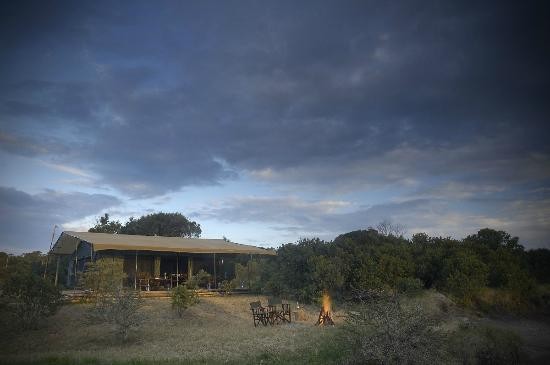 Porini Rhino Camp: View in Camp