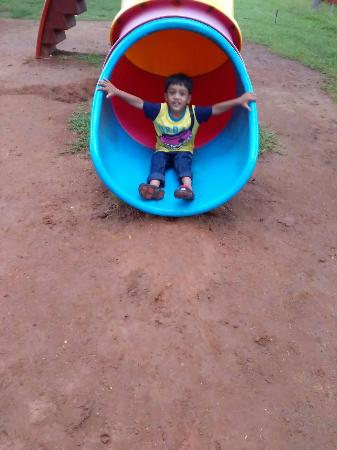 Vijay Beach Park: some ride my kid tried inside the park