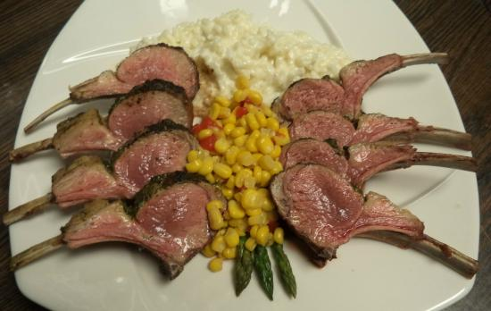 Dome49 : Rack of Lamb with Parmigianno-Reggiano Risotto