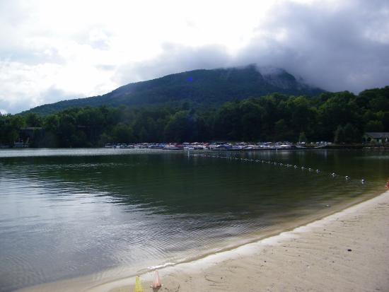 Lake Lure, NC: view from the beach