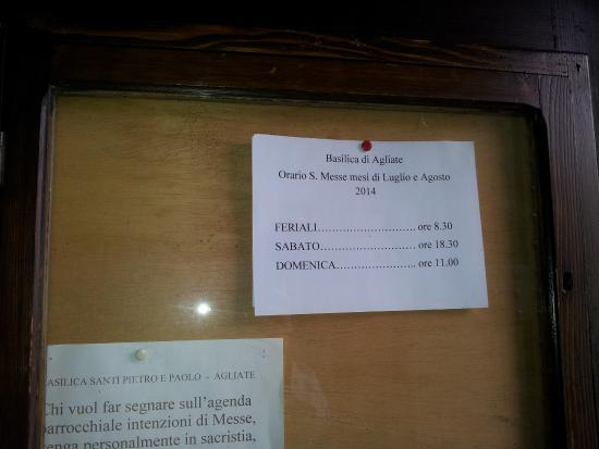 Gli orari foto di basilica di agliate carate brianza for Bricoman carate brianza orari