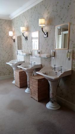 Waterford Castle Golf Club: Banheiro feminino - louças pintadas a mão