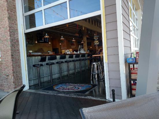 Bar With Garage Door Picture Of Conch Republic Rocketts Richmond Tripadvisor
