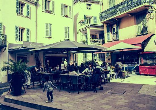 Au Garcon Boucher : Terrasse du restaurant