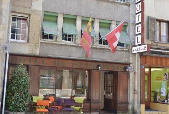 Hotel St-Gervais: Fachada del hotel