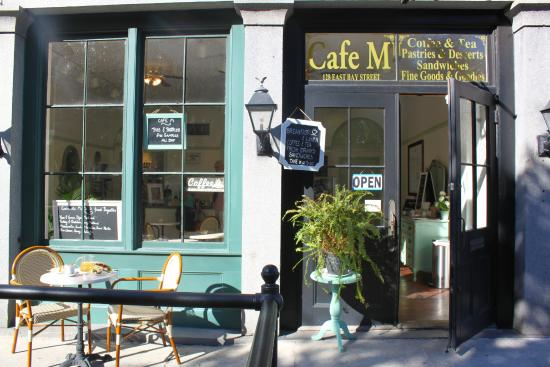 Caf facade on bay street picture of cafe m savannah for M m motors savannah ga