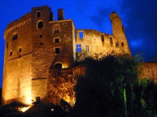 Le croque mitaine : Le Château de Clisson de nuit